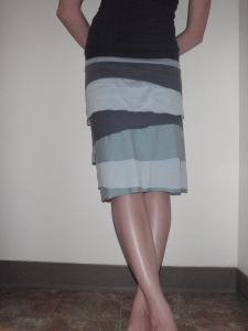 The completed skirt.