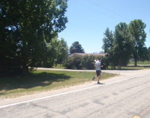 Mitchell running his first leg.